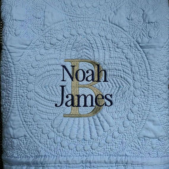 Personalized baby blanket monogrammed baby quilt embroidered baby personalized baby blanket monogrammed baby quilt embroidered negle Image collections