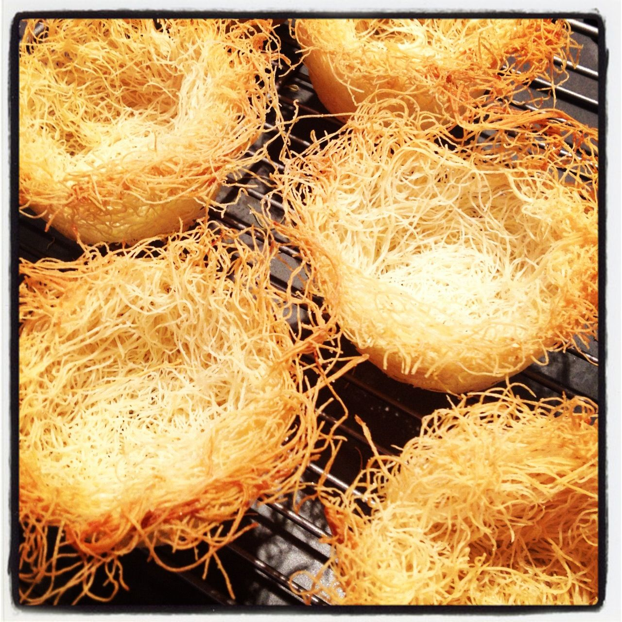 Kataifi bird's nests right from the oven!