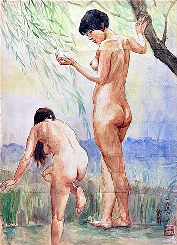 Nude, 1952, by Guan Zilan (Chinese, 1903-1986)
