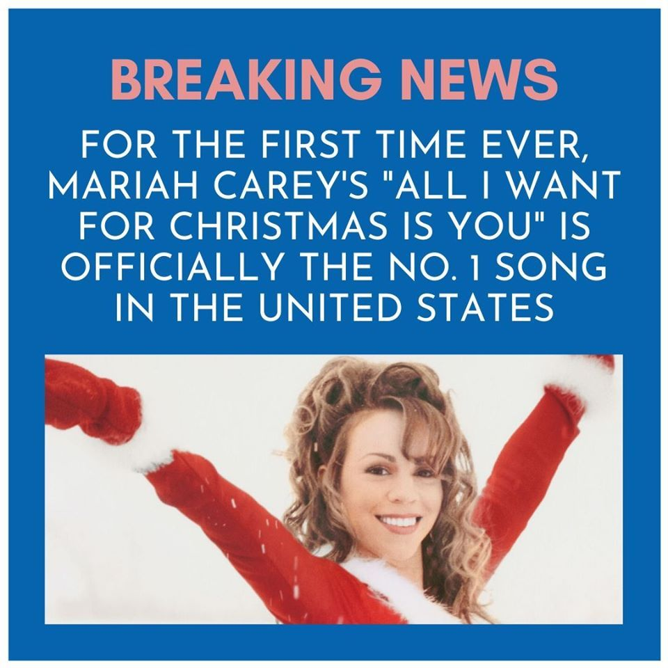 Mariah Carey S 1994 Carol All I Want For Christmas Is You Christmas Official Song Us Mariah Carey Songs Mariah Carey Christmas