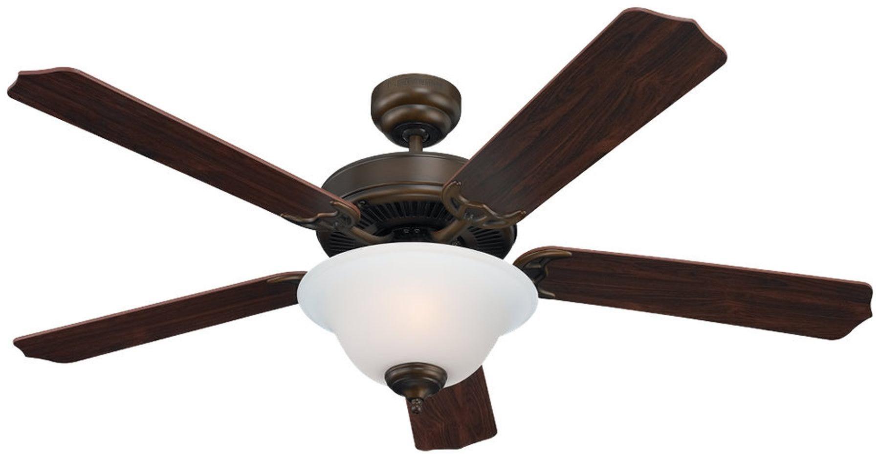 0-004651>Quality Max Plus 2-Light Fluorescent Energy Star Indoor Ceiling Fan Russet Bronze