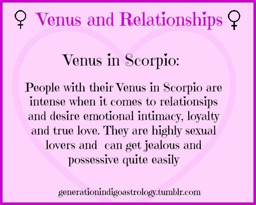 Venus in Relationships~ # Venus in Scorpio #Astrology