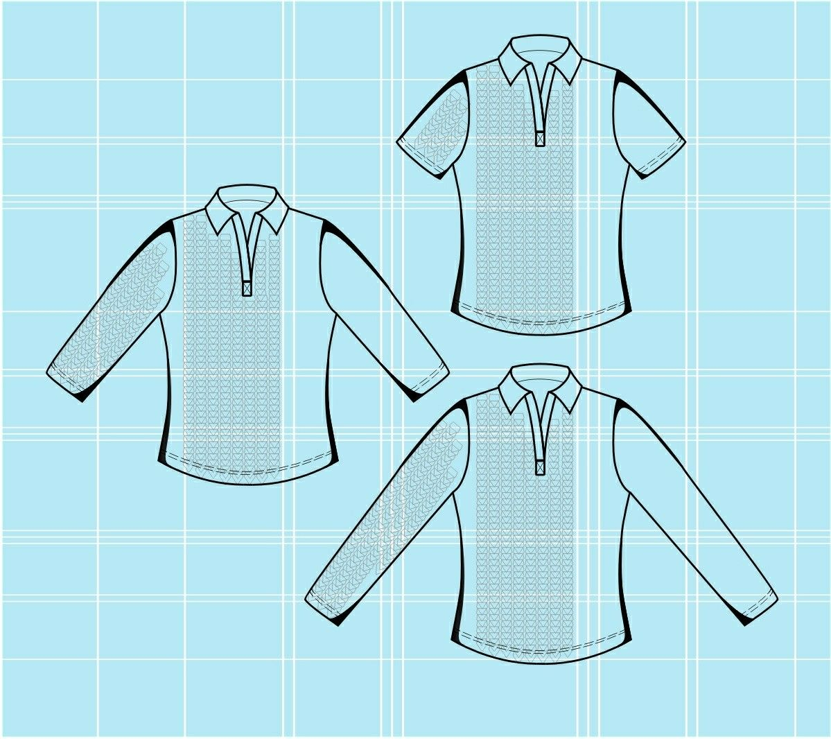 Top - Naaipatroon #5657 Made-to-measure sewing pattern from Lekala ...