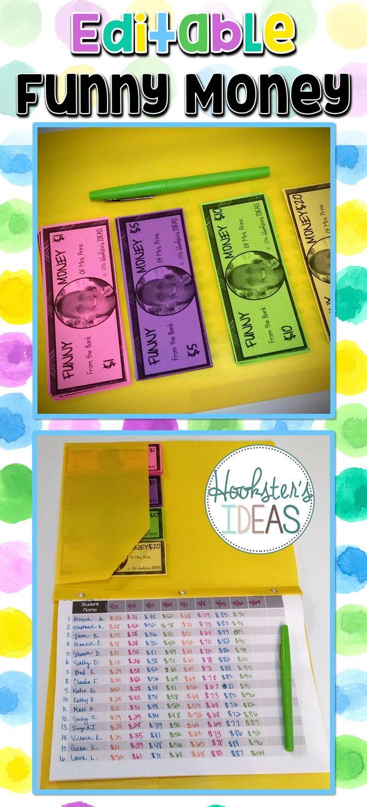 Pretend Play Money | Play money, Printable play money ... |Pretend Money For Classrooms
