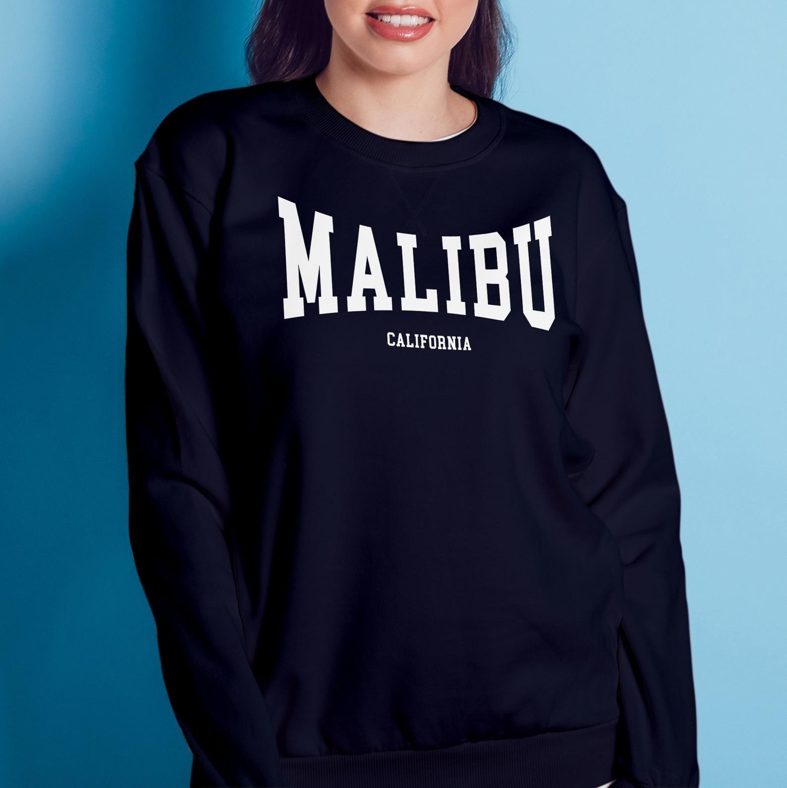 Malibu Crewneck Sweatshirt California Home Pride City Etsy In 2021 Indiana Shirt Sweatshirts Crew Neck Sweatshirt [ 1589 x 1588 Pixel ]
