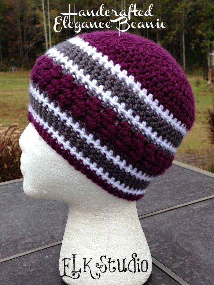a46f62bfc3c Handcrafted Elegance Beanie - A FREE Crochet Beanie by ELK Studio  crochet   beanie