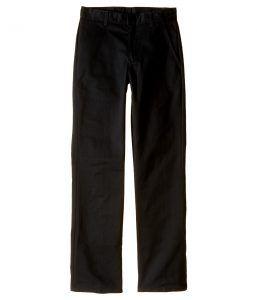 Nautica Kids Slim Fit Flat Front Pants (Big Kids) (Black) Boy's Casual Pants
