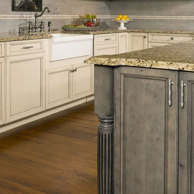 Grey Stained Cabinets Design | Stained kitchen cabinets ...