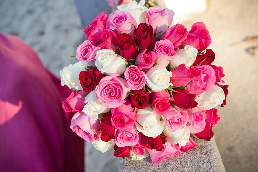 Red White Pink Rose Bouquet Photography By Tigerlily Photography