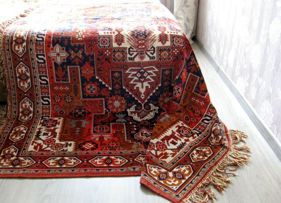 Bohemian Tablecloth Bedspread Turkish Persian Styled Carpet Native American Mexican Aztec Oriental Rug Throw Kilim