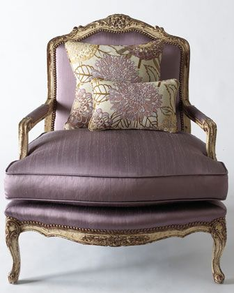 Old Hickory Tannery Olivia Chair Purple Love Chair