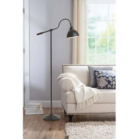 Buy Better Homes And Gardens Adjustable Arm Metal Floor Lamp At Walmart.com