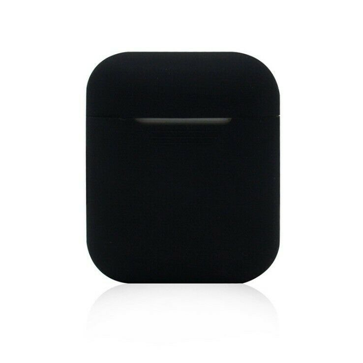 Quantity One 1 Black Airpods Charging Case Cover Apple Airpods And Charging Case Not Included Compatible With Apple Airpods N Case Case Cover Silicon Case