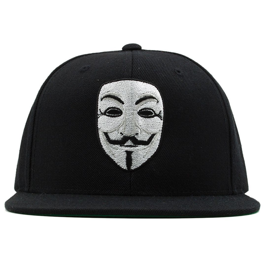 7f18ec70d4c Anonymous Guy Fawkes V for Vendetta Mask Snapback Hat