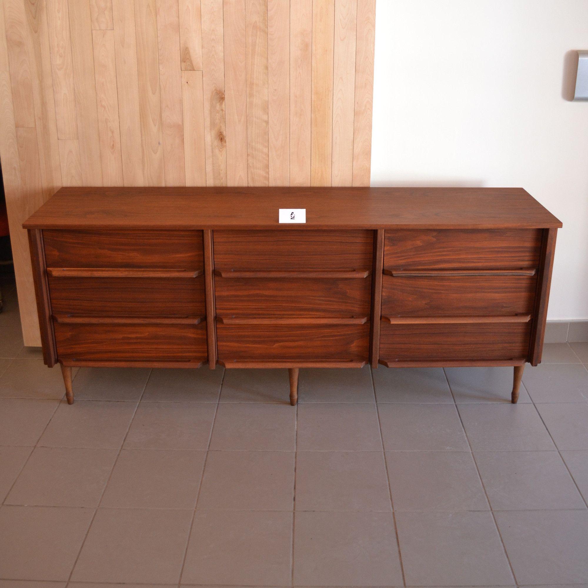 Mid Century Modern Commode En Noyer Home Decor Decor Furniture