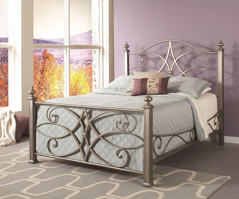 Silver Metal Bed | Brianu0027s Furniture