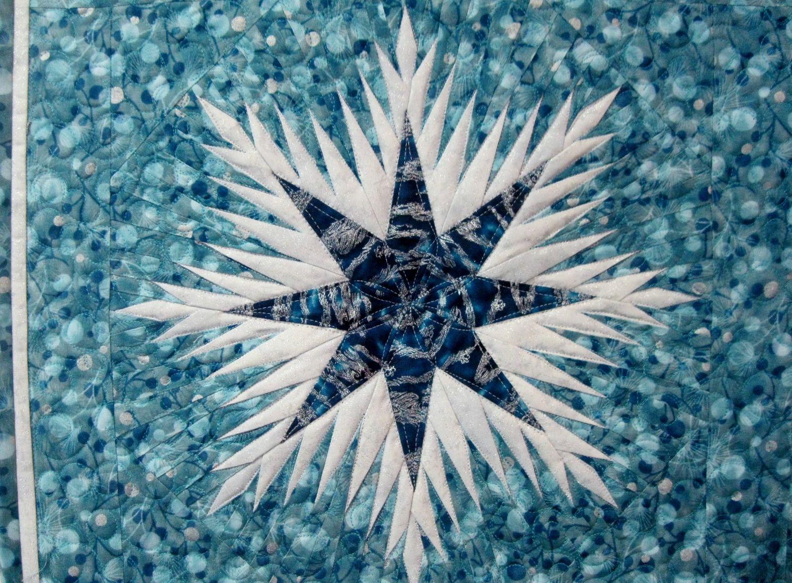 Winter Wonderland By Liz From Blue Bamboo Quiltworx Fan Pins