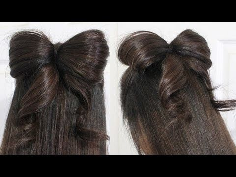 Pin By Jen Blushi On Hair Bow Hairstyle Bow Hairstyle Tutorial Hair Styles