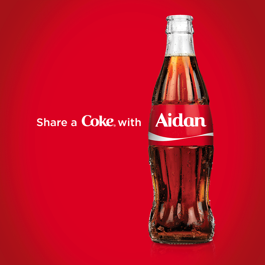 Coca Cola Quotes Aidan Really Wanted A Coke Bottle With His Name On It So I Made