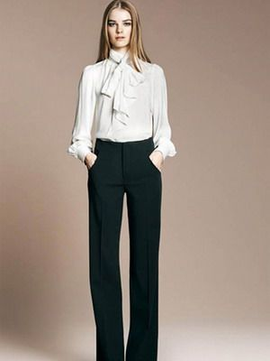 Стильные белые женские рубашки на 2017 год: фото модных и ...