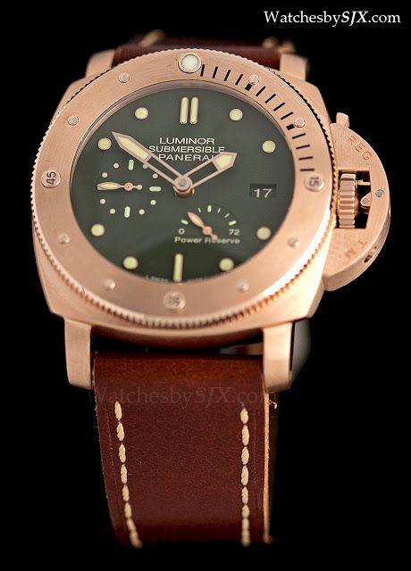 Watches by SJX: Photo essay: Panerai Luminor Submersible Power Reserve Bronzo PAM507 (live photos and pricing)