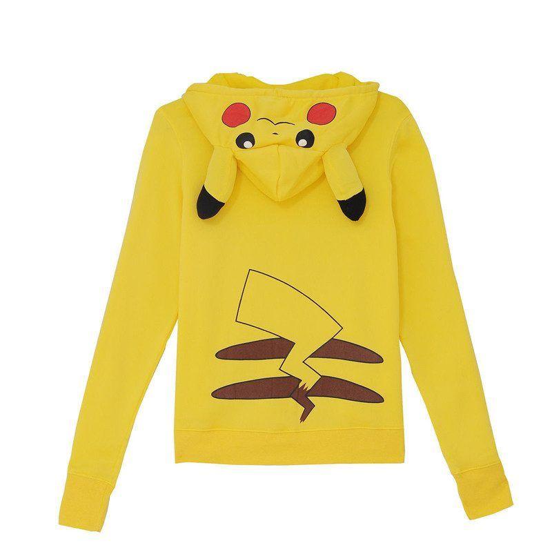 Veste Zippé Jaune Pokemon Pikachu | Sweat shirt, Veste