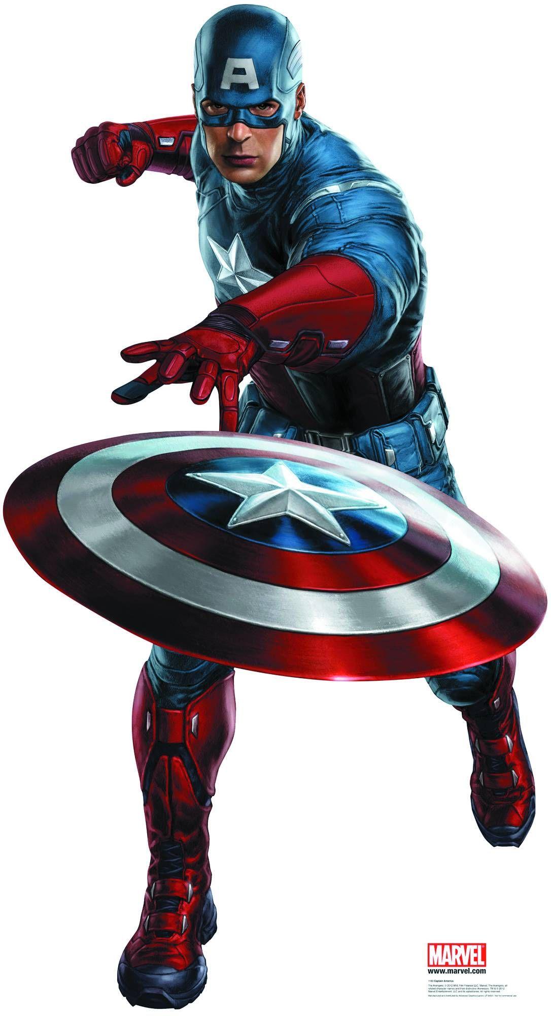Large Sized Captain America Cutout Avengers Poster Captain America