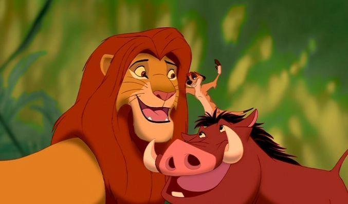 Amistad entre Simba, Timón y Pumba!