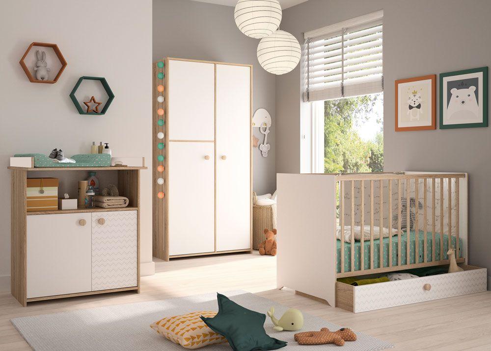 Chambre Intimi Lit 60x120 Commode Armoire Mobilier De Salon