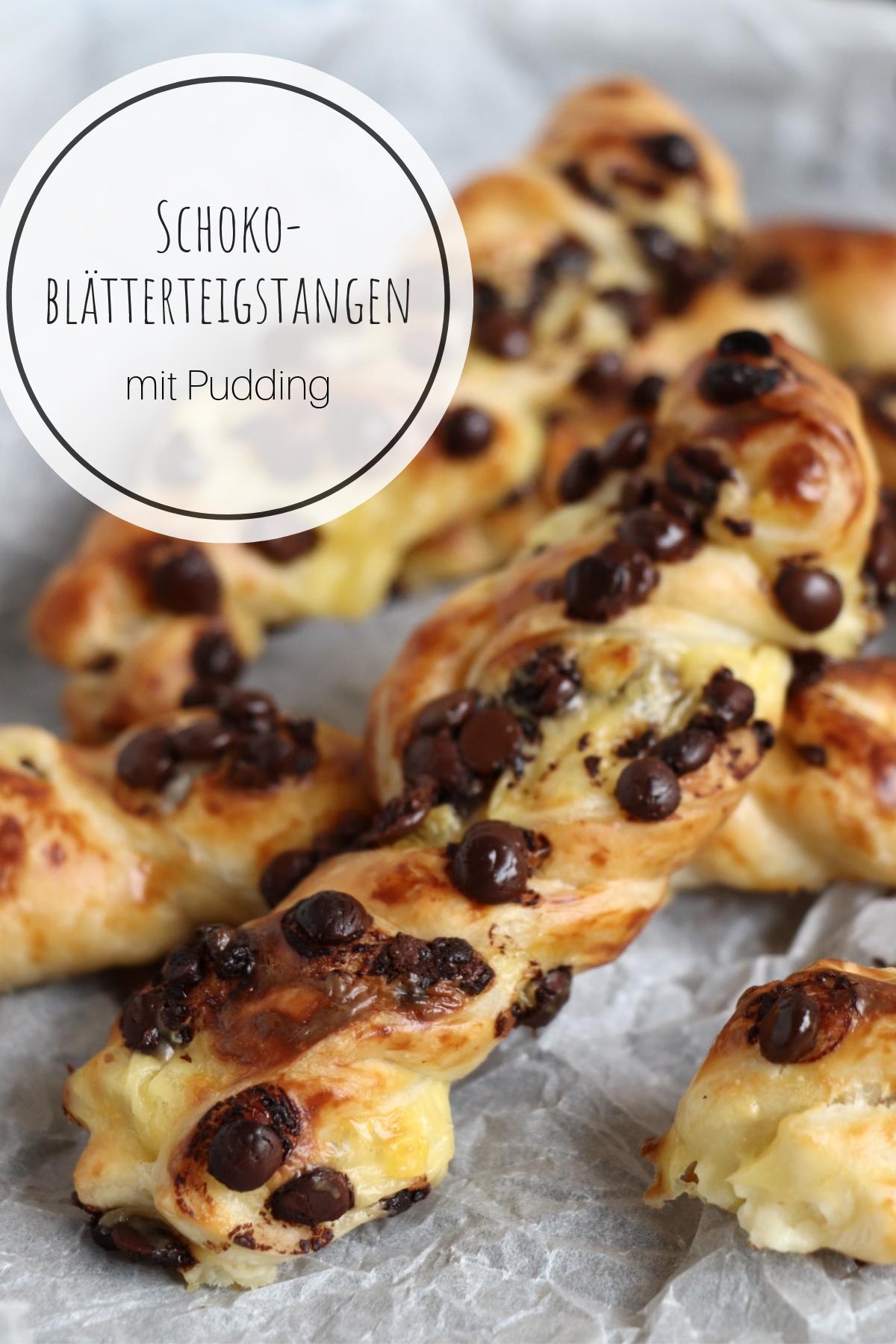Photo of Puff pastry sticks: chocolate & pudding
