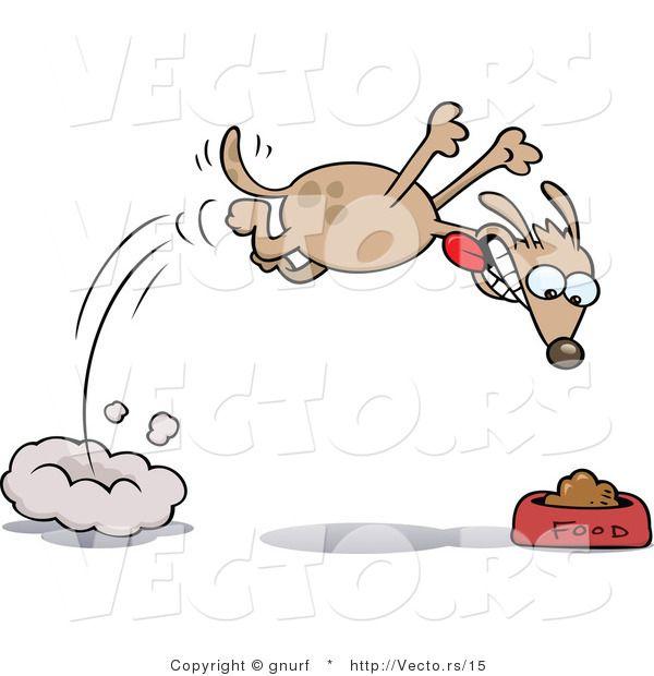 Hungry Dog Cartoon Illustration Cartoon Dog Cartoons Vector