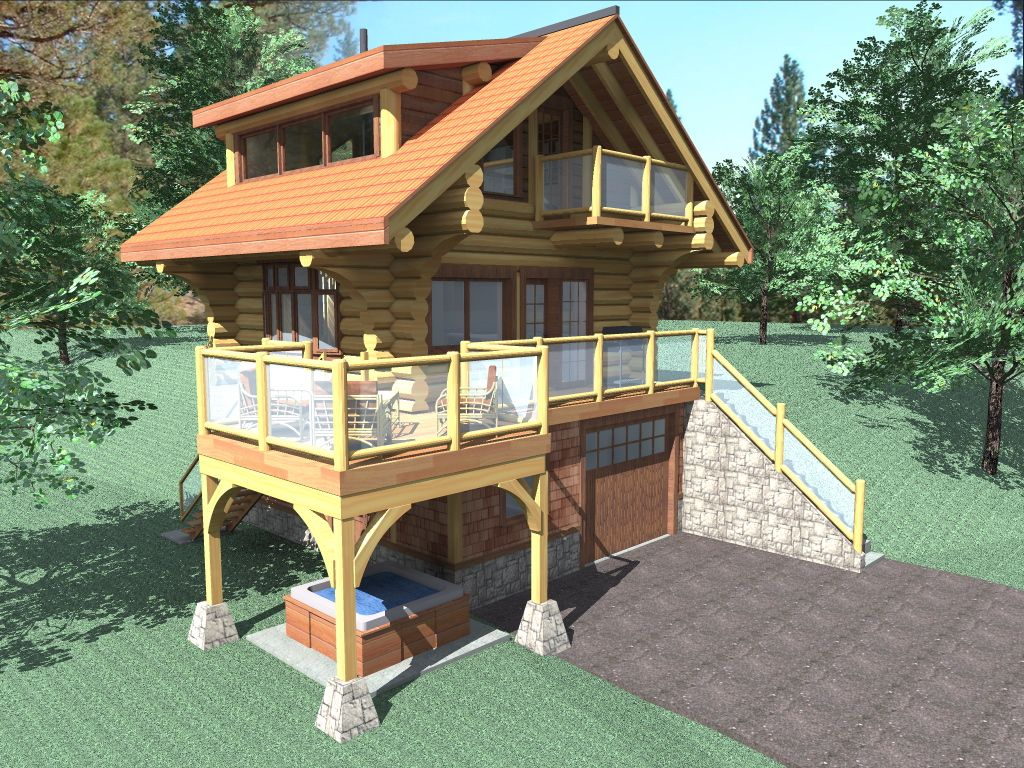 the bachelor is a 484 sq ft 1 bedroom 2 bathroom two floor log feet to square feetsmall log cabin kitseco - Tiny Log Cabin Kits