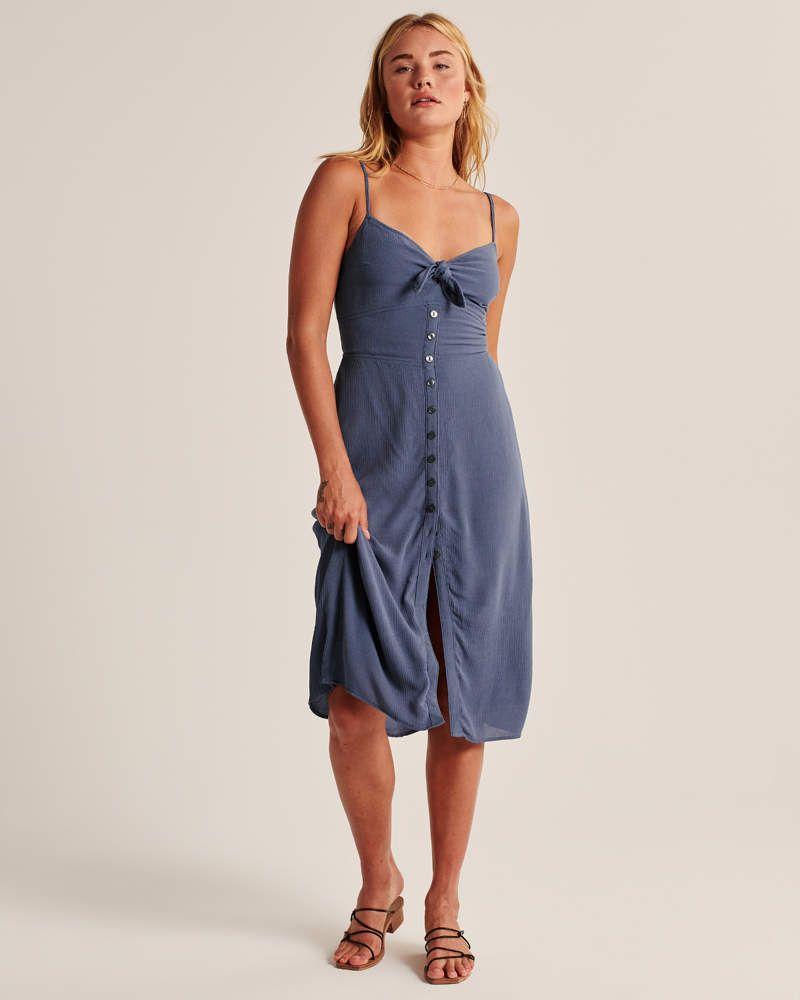 Women S Button Up Midi Dress Women S New Arrivals Abercrombie Com [ 1000 x 800 Pixel ]