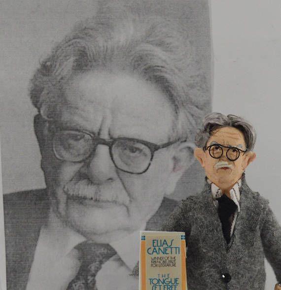 Elias Canetti Nobel Prize Winner Author Doll Non Fiction