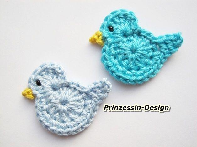Vögel gehäkelt 2 Stück | If I knew how to crochet ;) | Pinterest ...