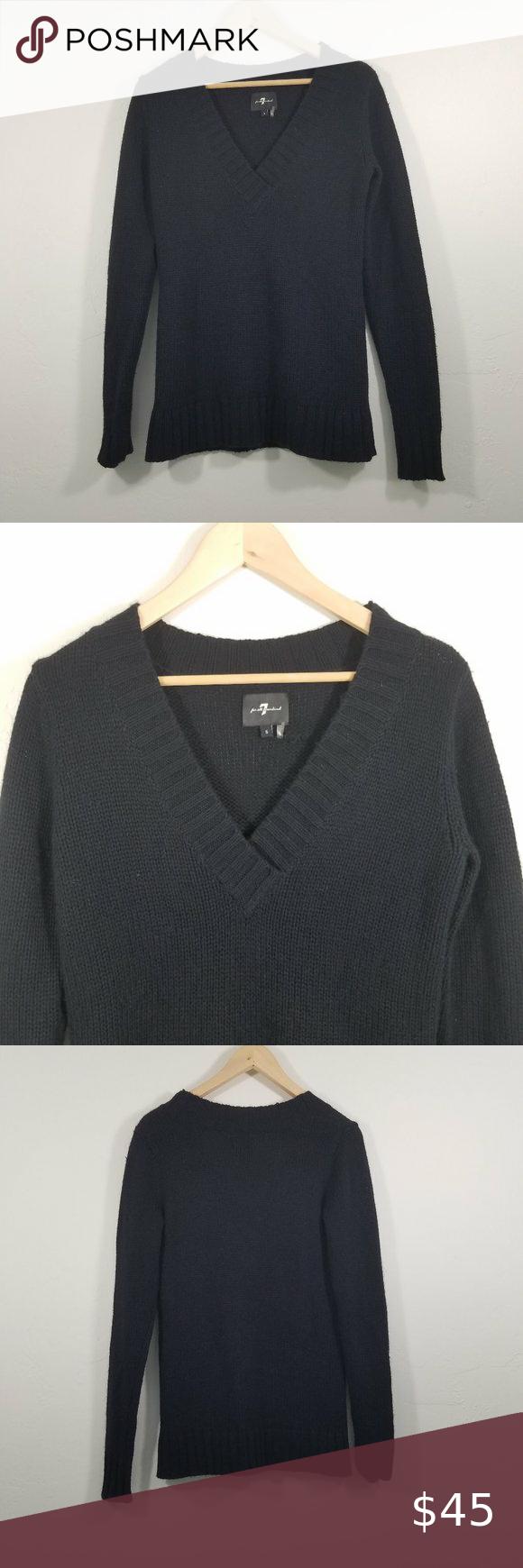 7 For All Mankind V-Neck Sweater Size S 7 For All Mankind V-Neck Sweater Size S C100928 7 For All Mankind Sweaters V-Necks