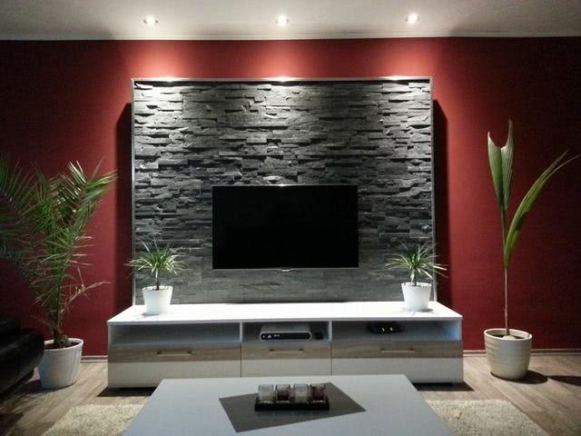 indirekte led Wandbeleuchtung im Wohnzimmer hinter Fernseher - möbel wohnzimmer modern