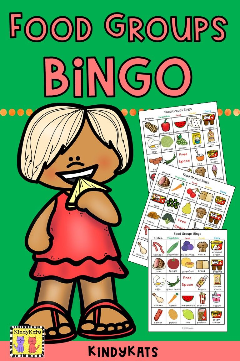 Food Groups Bingo in 2020 Group meals, Food
