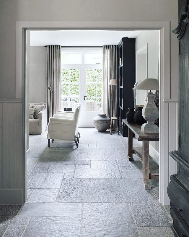 Elegance With Stone Flooring Make Your Room Classic With
