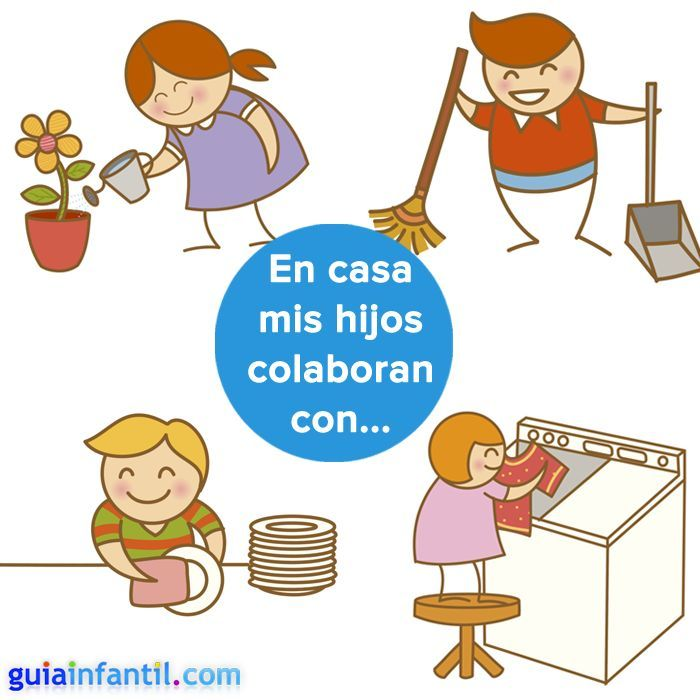Los ni os pueden y deben colaborar en las tareas del hogar for Concepto de la familia para ninos