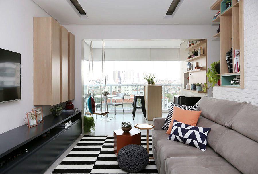 Moderno E Jovem Salas Pequenas Apartamentos Modernos E
