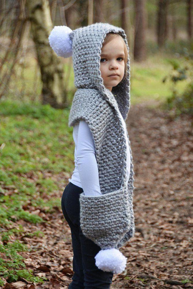 The Snowdrift Hooded Scarf Hekl Crochet Scarves Crochet