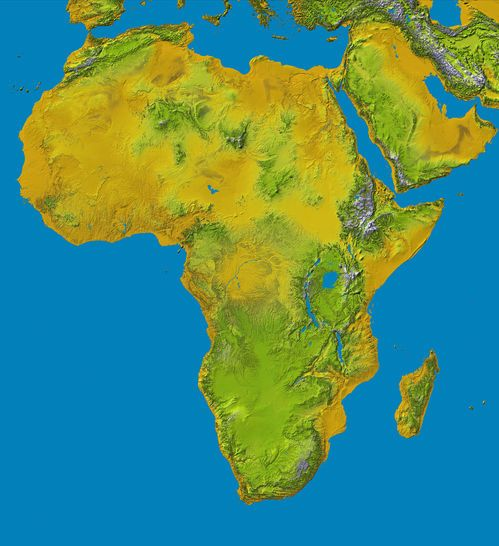 Map De Africa Topography of Africa 2000 | Africa, Relief map, Africa map