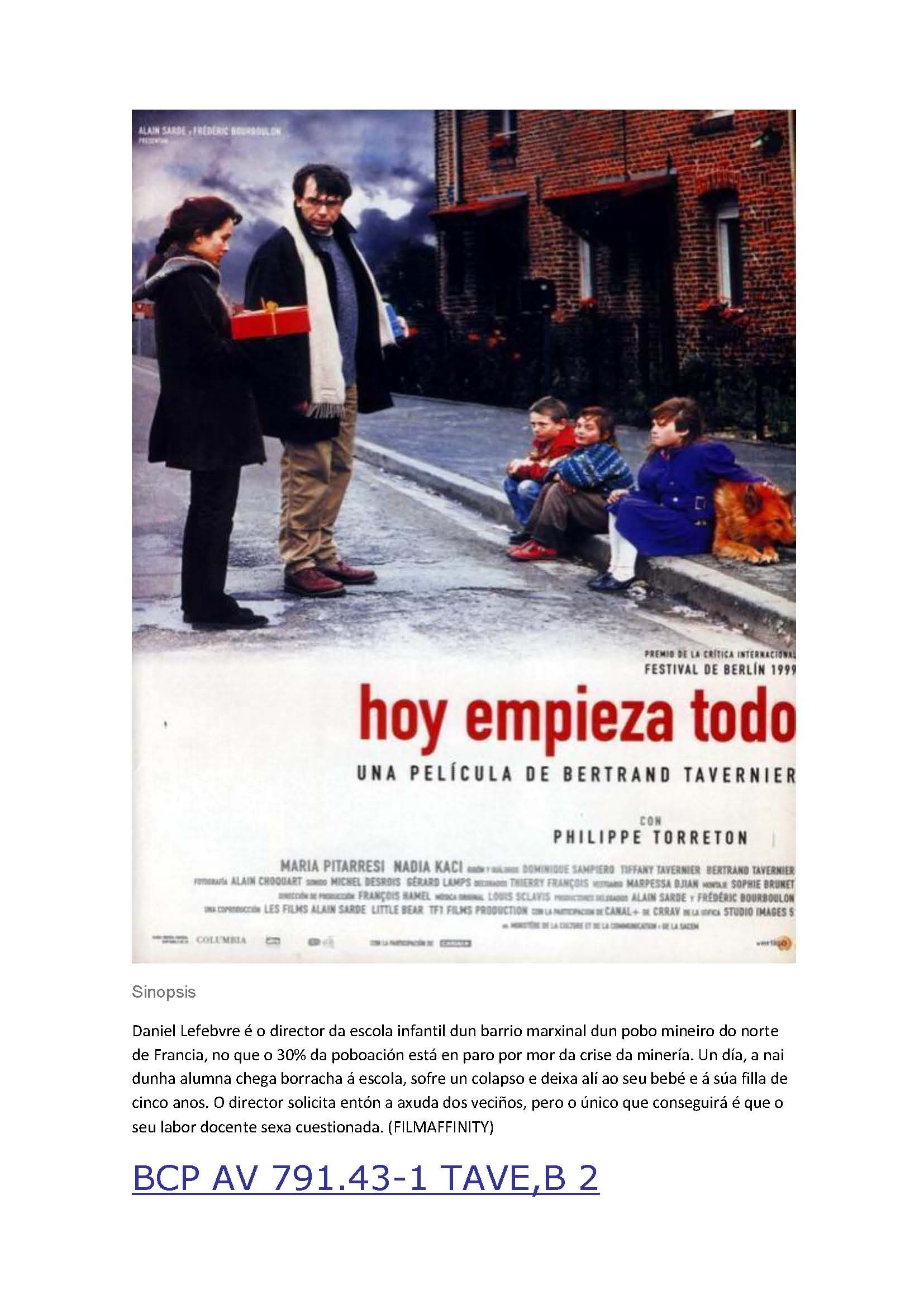 Hoy empieza todo spanish torrent
