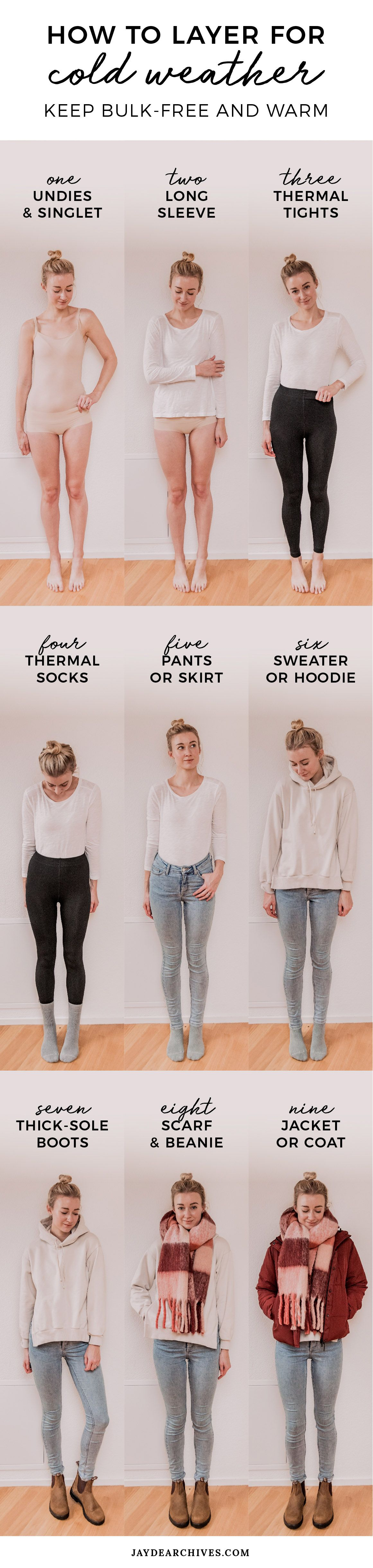 How to Layer Clothes for Cold Weather: Bulk-Free and Warm | Jayde Archives
