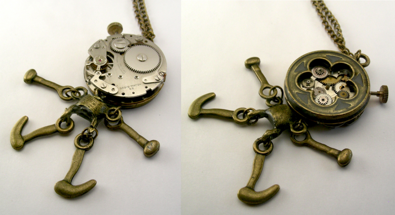 The two eyed Steampunk Cyclops (front and back)