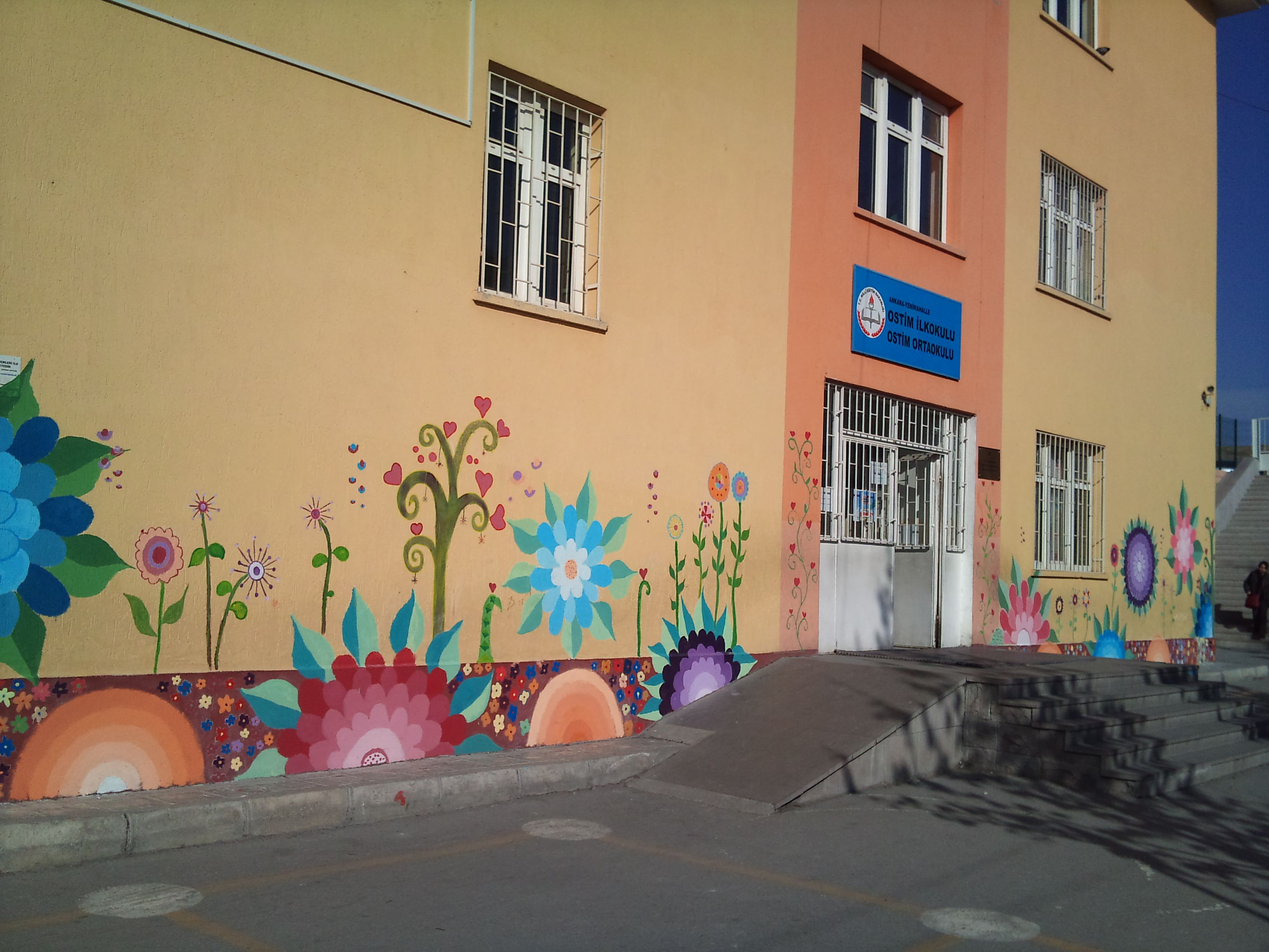 Okul Duvarlarimiz Duvar Wall School Murals School Painting Ve