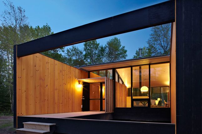 Large Open Entry Area Or Could Make A Deck Also Prefab Cottages Modern Prefab Homes Prefabricated Houses