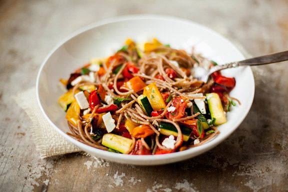 Sanford Profile Reboot Recipes - Miracle Pasta Smothered with Roasted Low-Carb Vegetables