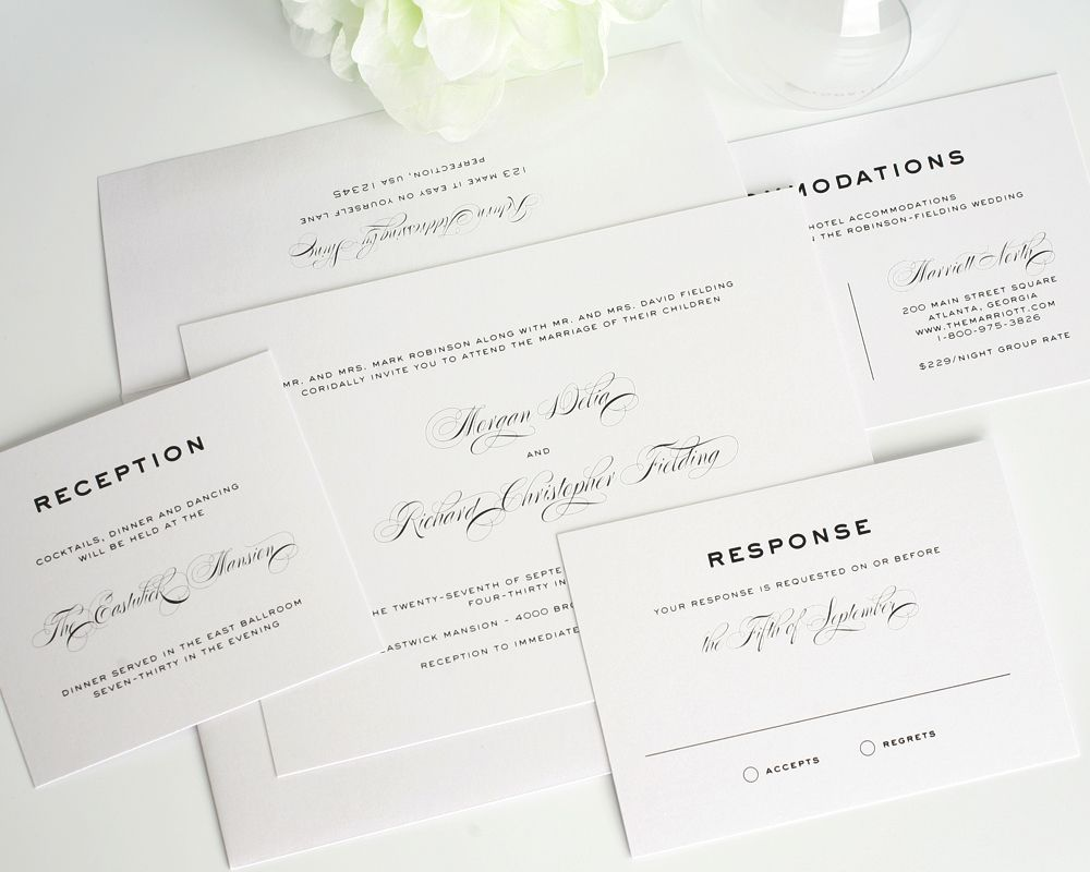 17 Best images about Wedding invitations – Modern Classic Wedding Invitations